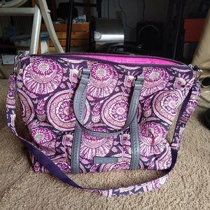 Vera Bradley Purple Floral Midtown Small Tote Bag